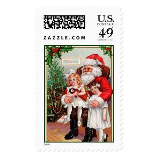 Sellos del navidad - con las tarjetas a juego