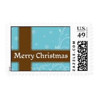 Sellos del navidad de la cinta de Brown