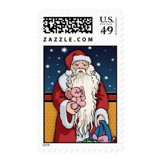 Sellos del navidad de los regalos del transporte d