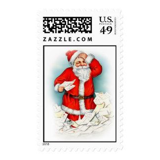 Sellos del navidad de Papá Noel del vintage