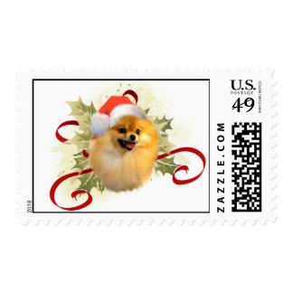 Sellos del navidad de Pomeranian