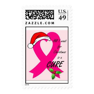 Sellos del navidad del cáncer de pecho
