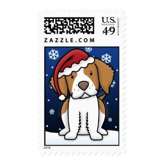 Sellos del navidad del perro de aguas de Kawaii Br