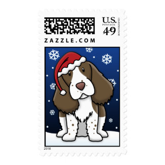 Sellos del navidad del perro de aguas de saltador