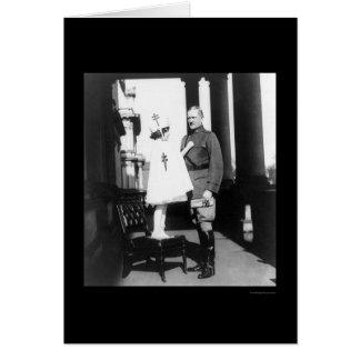 Sellos del navidad para general Pershing 1921 Tarjeta De Felicitación