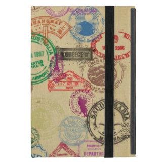 Sellos del pasaporte del vintage iPad mini fundas