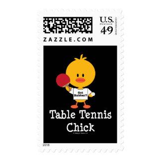 Sellos del polluelo de los tenis de mesa