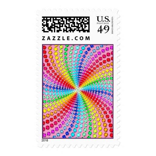 Sellos del remolino de la gema del arco iris