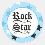 Sellos del sobre de la estrella del rock/primeros  etiqueta