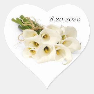 Sellos del sobre de la invitación del boda de la c calcomania corazon