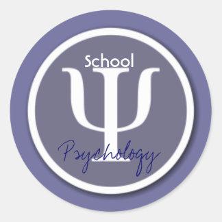 Sellos del sobre de la psicología de la escuela pegatinas redondas