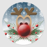 Sellos del sobre de la tarjeta de Navidad Etiquetas Redondas
