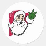 Sellos del sobre de las tarjetas de Navidad Etiquetas Redondas