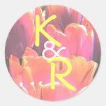 sellos del sobre de los hypercolortulips etiqueta redonda