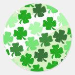 Sellos del sobre de los tréboles - verde etiqueta redonda