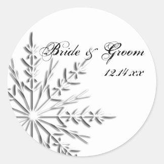 Sellos del sobre del boda del invierno del copo de pegatinas redondas