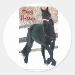 Sellos del sobre del caballo del día de fiesta pegatinas