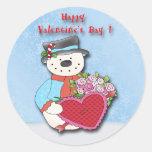 Sellos del sobre del el día de San Valentín del Pegatina Redonda