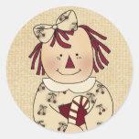 Sellos del sobre del navidad: Alegrías simples Ann Pegatinas