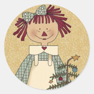 Sellos del sobre del navidad: Alegrías simples Pegatina Redonda