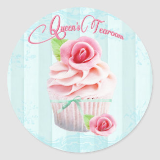 Sellos del sobre o del regalo del rosa de té pegatina redonda