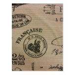 Sellos del viaje del francés tarjetas postales