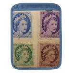 Sellos del vintage de la reina Elizabeth iPad2Slee Funda Para iPads
