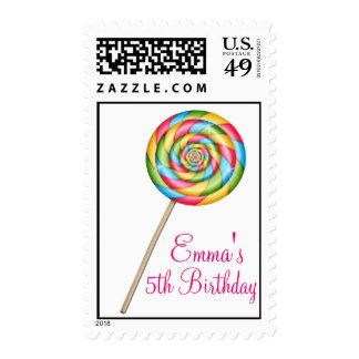 Sellos dulces del caramelo del Lollipop de la tien