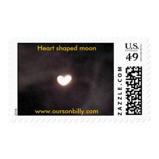 sellos en forma de corazón de la luna
