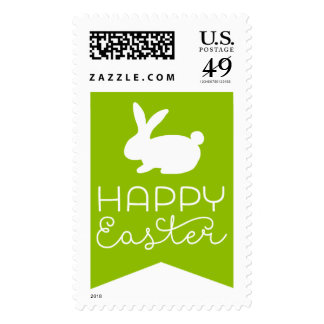 Sellos felices de Pascua del conejito