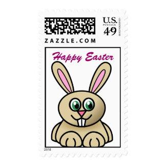 Sellos felices del conejo de conejito de pascua