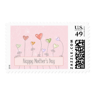 Sellos felices del día de madres de los globos del