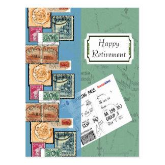 Sellos felices del retiro del mundo postal