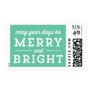 Sellos felices y brillantes de la menta del navida