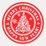 Sellos festivos del sobre de los pegatinas del etiquetas redondas
