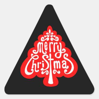 Sellos festivos del sobre del pegatina del árbol