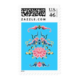 Sellos florales del diseño del chino