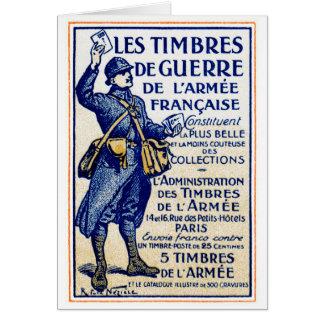 Sellos franceses de la guerra de WWI Tarjeta De Felicitación