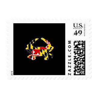Sellos/franqueo del cangrejo de la bandera de timbres postales