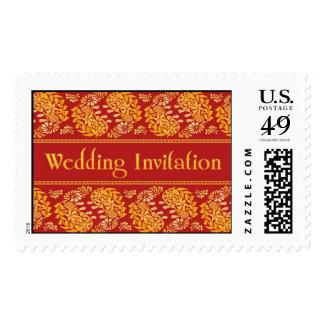 Sellos grandes de la invitación del boda