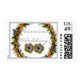 Sellos hawaianos del hibisco del boda
