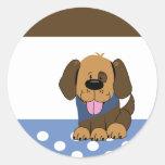 Sellos hermosos del sobre del perro de perrito de  pegatinas redondas