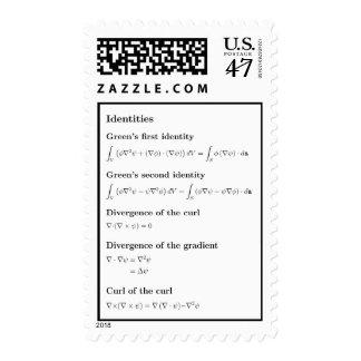 Sellos: identidades básicas del cálculo de vector sellos