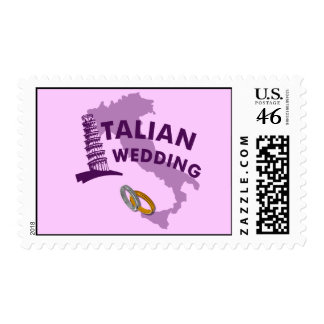 Sellos italianos de la invitación del boda