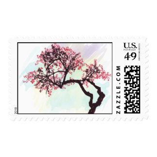 Sellos japoneses del flor del cerezo