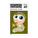 Sellos lindos del bebé del soldado