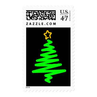 sellos llamativos del árbol de navidad