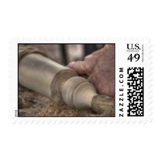 sellos manuales de madera del trabajo del hdr