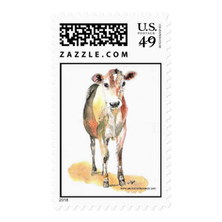 sellos marrones de la vaca