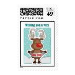 Sellos medios del navidad lindo de Rudolph